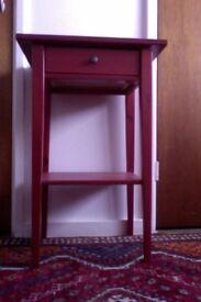 IKEA HEMNES - Red Bedside Table