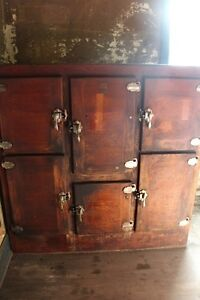 For Sale Antique Wooden Ice Box London Ontario image 3