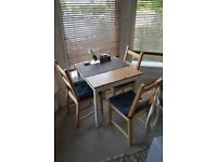 Lerhamn 74x74cm dining table and chairs