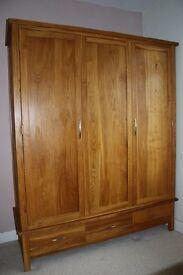 Brooklyn oak solid triple wardrobe
