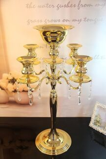 Wanted: Gold and Crystal candelabra centerpieces