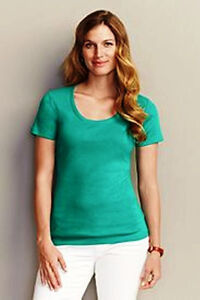 EDDIE BAUER Womens S/S Scoop or V-Neck T-SHIRT Pink or Green M MT L LT XL NWT