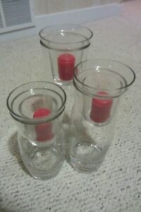 PartyLite Hurricane Votive Candle Holders (Set of 3)