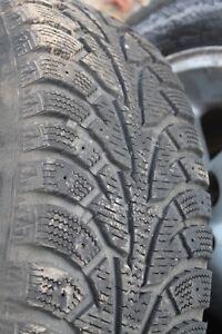Dedicated Winter Tires on Jeep TJ 5 on 4.5 bolt rims tons tread.