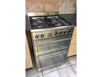 Smeg dual fuel double oven with grill
