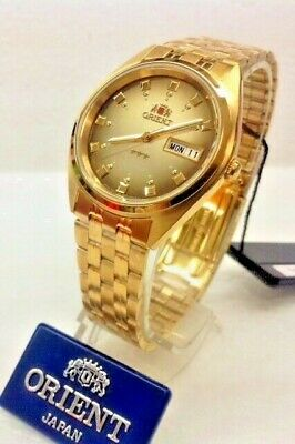 Orient  FAB00001P9 Men's 3 Star Standard Gold Tone Brown Dial Automatic Watch