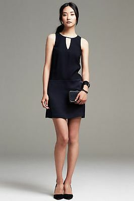 New Banana Republic Crepe Swing Navy Dress Size 6P    Second item ship for free