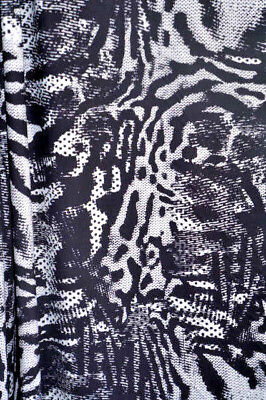 Animal Print Crepe de Chine   Apparel Fabric Digital Dots  By the Yard  Bfab