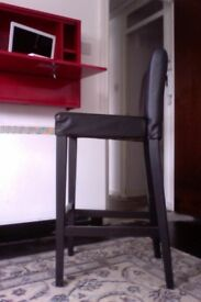 IKEA HENRIKSDAL Leather Bar Stool with back rest.