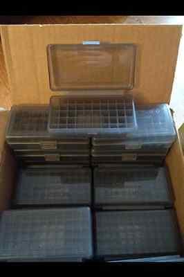 BERRY'S PLASTIC AMMO BOX 50 Round 9MM 30 25 32 401 BUY7 GET3FREE) (1) SMOKE GREY