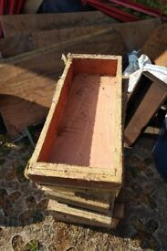 WOODEN STORAGE BOXES / PLANTERS / HERB BOXES - STRONG