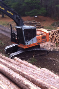 Hitachi Forester with waratah 622b processor