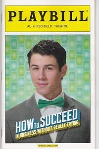 Playbill - How To Succeed - April 2012 - Nick Jonas, Beau Bridges - color cover
