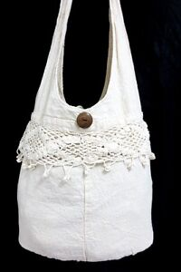 Knitted Sling Bag : KNIT-CRAFTS-HOBO-YAAM-SHOULDER-BAG-SLING-HIPPIE-CROSSBODY-CROCHET-LACE ...