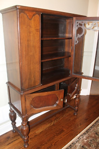 Beautiful Solid Walnut China Cabinet Display Case