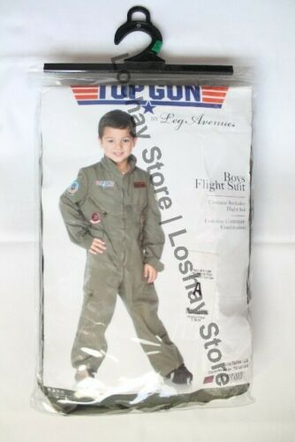 Leg Avenue Boys Top Gun Flight Suit Maverick LARGE Age 10-12 Military Suit NEW