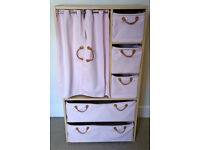 Pink canvas wardrobe