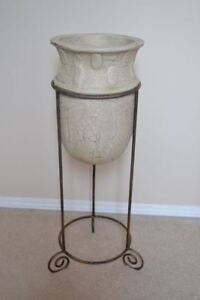 Unique Urn in Iron Stand