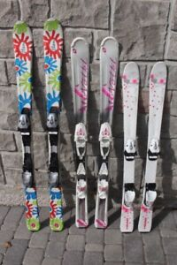 3 pairs of skis parabolic junior size for girls 110 120 130 cm H