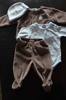 Authentic Baby 4 Pc Fleece Outfit size 3-6 mths