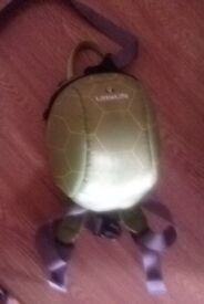 Turtle back pack with parent strap