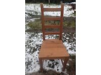 4 IKEA wooden chairs