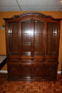 Wood china Cabinet/ hutch/ buffet