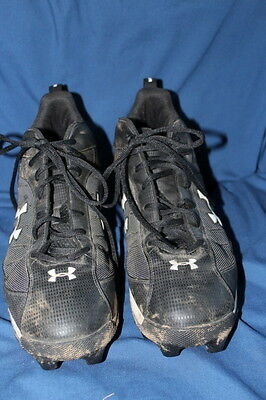 85149ccd7251 Under Armour Football cleats Men s 12 Black White