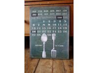 Lovely Kitchen Perpetual Magnetic Calendar