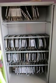 Commercial Steel Office Storage Cupboard five steel hanging rails. Lockable with 2 keys supplie