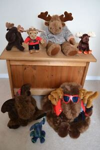 Plush MOOSE: Skier, Ty Beanie Baby, RCMP (+ more moose items)