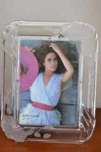 5X7 Crystal Photo Frame with Rose Details