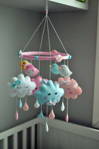 Crib mobile,wall letters,pillows VISIT MY PAGE