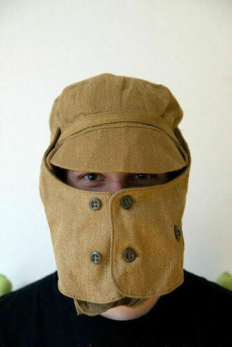 Soviet Union Military AFGHANISTAN Soldier's Cap with Dust Mask USSR size 55