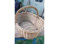 LARGE, VINTAGE BASKET. PERFECT FOR LOGS BY A FIRE PLACE or WOOD-BURNING STOVE or for SHOP DISPLAYS