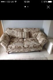 2 X 2 Seater Fabric Sofas C/W Cushions