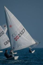 Laser Radial Sailing Dinghy with road base (double stacking trailer option)