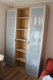 Office Furniture - stylish desk, cupboards, 4 pedestals and shelves