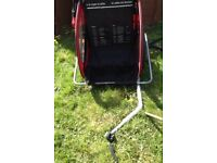 Childs bike trailer (two seats)