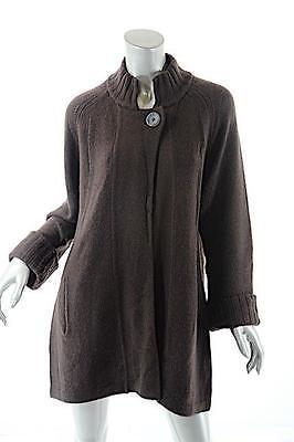 KINROSS Cashmere Chocolate 100% cashmere One-Button Cardigan Sweater - Sz L