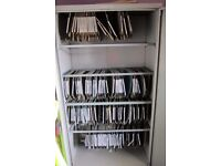 Quality Commercial Grade Steel Office Storage Cupboard,five steel hanging rails Lockable with 2 keys