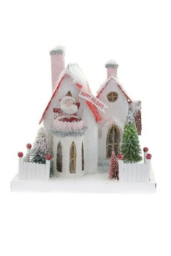 Cody Foster Christmas Paperboard Putz Village House The Santa House