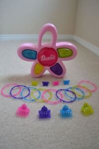 Toys: Barbie Game & Doll, Ty Beanie Baby Cat, Puzzles, Pink Bag