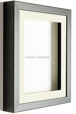 Black or White Wooden Picture Photo 3D Box Frames with Mounts By Frame Company