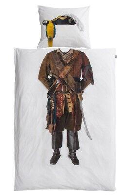 Snurk Bettwäsche Pirate Pirat Motivbettwäsche Kinder Fotodruck weiß 135 x - Bettwäsche Pirat Kostüm