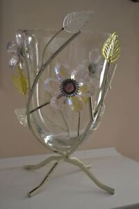 Unique Glass Vase and a Matching Wall-Hanging With Hooks