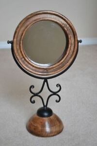 Vanity Mirror: Wood & Wrought Iron (+ more home decor for sale)