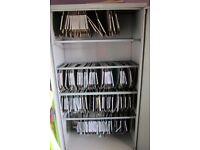 Steel Office Storage Cupboard Commercial Grade,five steel hanging rails. Lockable 2 keys supplied