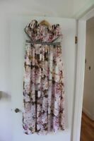 Size 14 Floral Strapless Maxi Dress