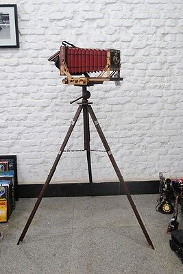 Nostalgie Aufstell Kamera Foto Fotoapparat  Dekoration Eisenblech Höhe140cm
